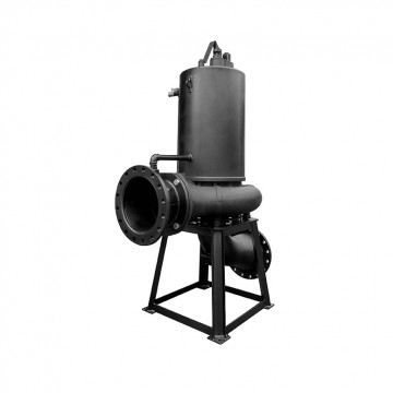 Submersible dry-pit sewage pump