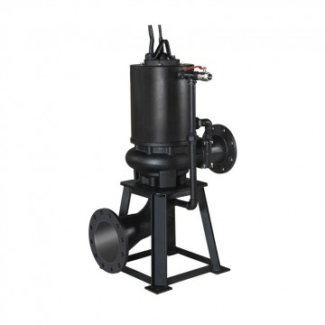 Dry-pit type non clog pump