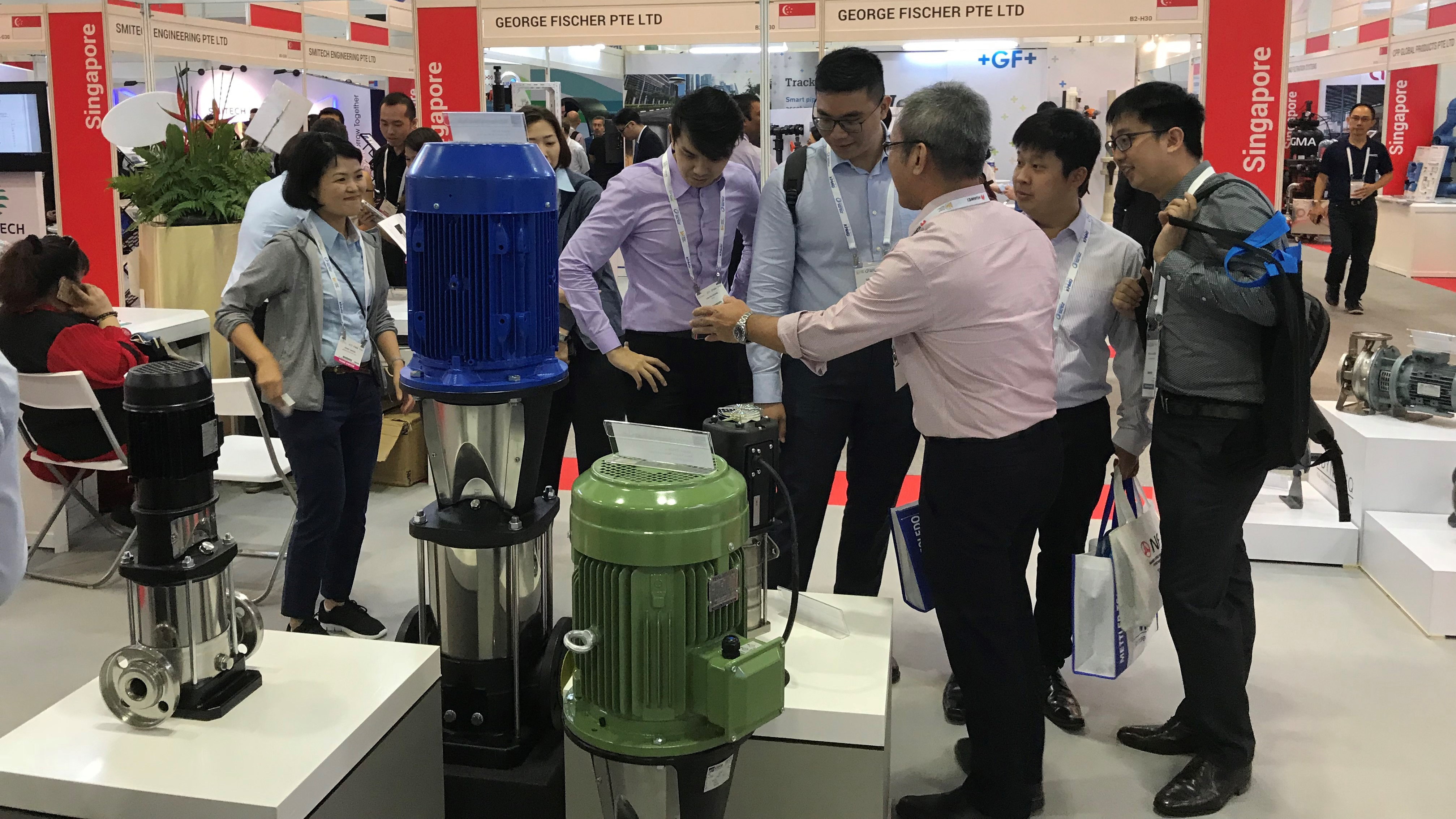 EBARA Engineering showcases New Range of Pumps at Singapore International Water Week